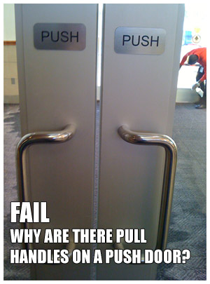 There\u0027s a certain graceful flow I like to make when entering a room or building and nothing kills the impression than opening the door the wrong way. & UX FAIL #1: Designing Against User Habits